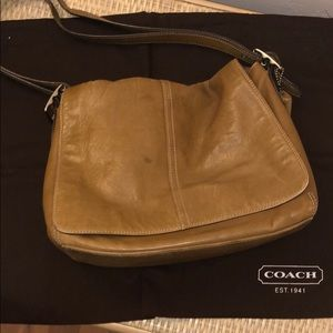 Coach Brown Leather Crossbody with dust-bag